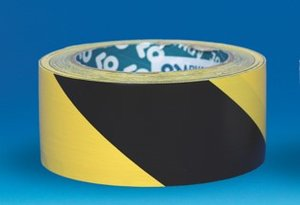 Zwart/gele tape – 50m - breedte 33mm