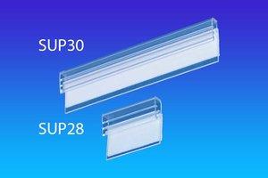 Zelfklevende J-supergrip - pvc - formaat 18x25x18mm - capaciteit1,5mm - transparant