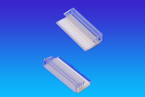 Zelfklevende J-supergrip  - pvc - formaat 18x38x18mm - capaciteit 1,5mm - transparant
