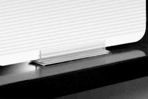 Zelfklevende T-grip - permanente kleefpad - PVC - 20x76x13mm - Dikte van 3 tot 4 mm