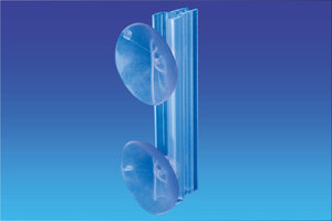 Double Zuignap grip flag - grip 100mm - diam. 42mm - Dikte van 1 tot 2mm