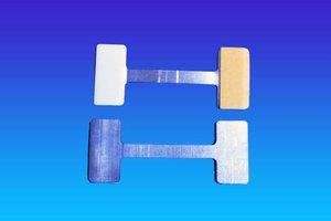 Mega twister metaal - 30x75mm - 1 permanente en 1 verwijderbare kleefpad