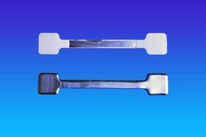 Metalen twister - 13x75mm  - 2 permanente kleefpad - bulk