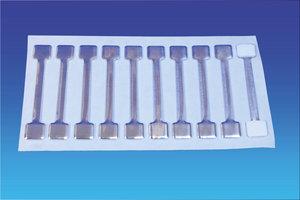 Metalen twister - 13x75mm - 1 permanente en 1 verwijderbare kleefpad - vel