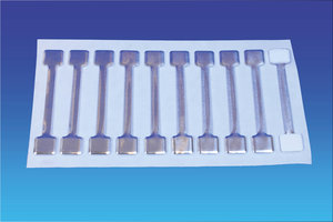 Metalen twister - 13x75mm - 2 permanente kleefpad - vel