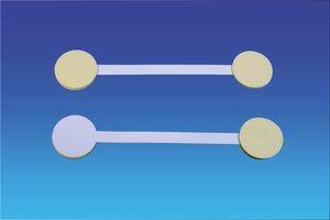 Metalen twisters - 3 permanente kleefpad - lengte 90mm - wit