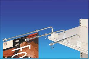 Bannerhouder  Multimag - Lengte 260mm - Ringen