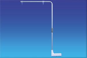 Verhoogde magnetische bannerhouder met haken - Hoogte van 400 tot 620mm - Lengte 420mm