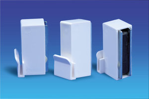 Promobase® paneelhouder wandvariant -90°  - Paneeldikte: 3mm