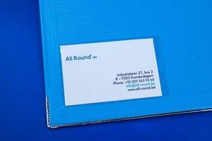Zelklevende pochette voor badge  - PP - Formaat 93x56mm