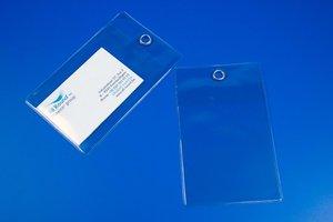 Niet-zelklevende pochette met versterkte perforatie - PVC - Formaat A7