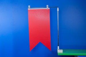 Magnetische bannerhouder met 2 klemmen  - Verstelbare hoogte - Diepte 300mm