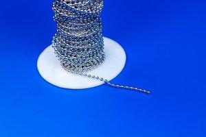 Bolletjesketting  - Vernikkeld metaal - Ø2,4mm - Lengte 150mm