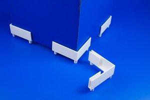 Display steunvoeten  - Hoogte voet 10mm - Hoek 90° - Wit