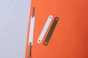 Afdekplaatje  - PVC - Afmeting12x95mm - Wit