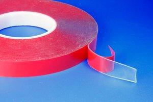 Dubbelzijdige zelfklevende acrylaattape  - Breedte 12mm - Dikte 1mm -Verwijderbare tape - Transparant