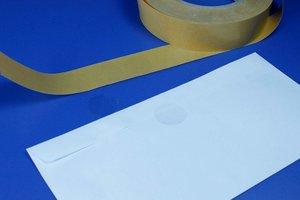 Enkelzijdige zelfklevende pads  - Ø20mm - Dikte 1mm - Permanente tape - Transparant