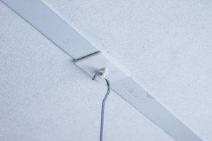 Zelfklevende rechthoekige plafondhaak  - Afmeting26x37mm - Tape permanent - Wit
