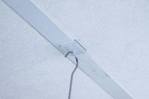 Plafondclip met ophangoog  - Afmeting20x20mm - Transparant