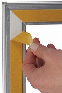 Klikkader voor etalage recto/verso, rechte hoeken  - Aluminium - Formaat A4 - profiel 32mm