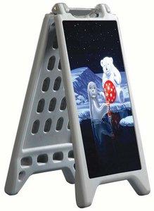 Stoepbord in kunststof recto/verso  - Capaciteit max.  Opvulbaar tot 5 liter - WATERPROOF - Formaat 325x570mm