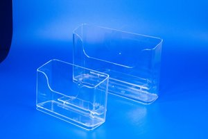 Folderbakjes met voet   - PS - Formaat A5 horizontaal - Transparant