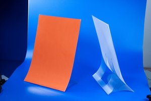 EINDE STOCK - Folderhouder  - PVC - Formaat A5 - Transparant