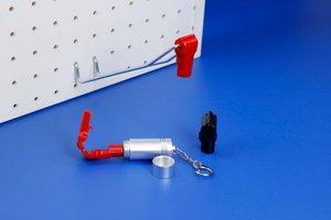Anti-diefstalsysteem in kunsstof voor enkele of dubbele haak - Ø min.5mm  max.6mm - Rood