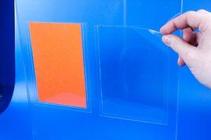 Elektrostatische pochette   - PVC - Formaat A6 - Transparant