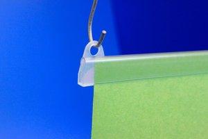 Ophangpoogje voor het  Posterprofiel POS1  - Transparant