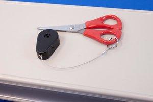 Zelfklevende anti-diefstal pull-box met stalen kabel - Uiteinde: Lus - Zwart