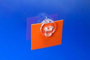 Zuignap met posterclip - Ø30mm - Transparant