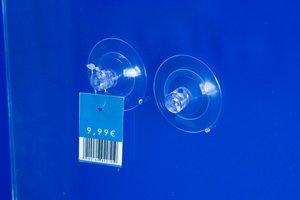 Dubbele zuignap met perforatie  - Ø45mm - Transparant