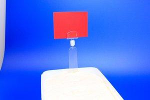 Ijsprikker met kleine kaarthouder  - Afmeting27x150mm - Capaciteit 13x27mm - Transparant