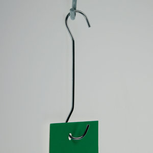 Metal double C-hook. - Hook - Length 300mm - Thickness 2mm - Capacity 15mm