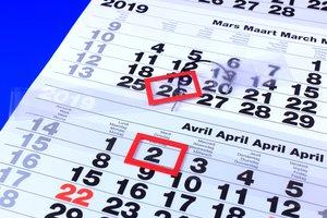 Datumaanwijzer  - PVC - Kalender breedte 170x500mm - Transparant