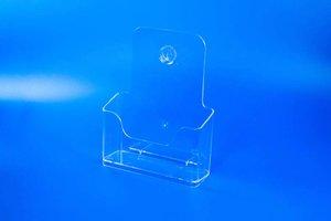 Folderbakje met ophangoogje en steunvoetje  - PS - Formaat A6 - Transparant