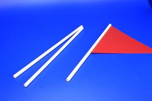 Tige Vlaggenaccessoires met rainure  - PVC - Afmeting 8x500mm - ø7mm - Wit