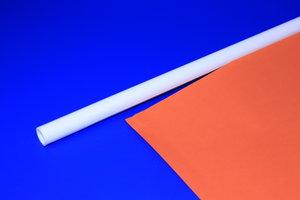 Tige Vlaggenaccessoires met rainure  - PVC - Afmeting18x700mm - ø15mm - Wit