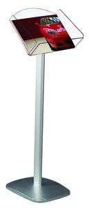 Brochurehouder op voet  - st - Formaat A4 horizontal - Afmeting voet 270x270mm - Hoogte 965mm