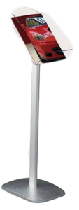 Brochurehouder op voet  - st - Formaat A4 vertical - Afmeting voet 270x270mm - Hoogte 1000mm