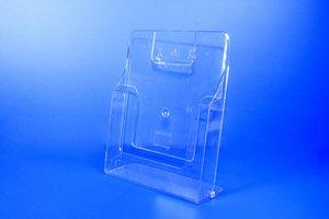 Zelfklevende folderhouder met ronde hoeken voorzien van 2 boorgaten   - Soepele PVC  - Formaat A4 verticaal