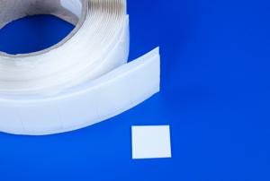 Dubbelzijdige zelfklevende foampads  - Afmeting25x25mm - Dikte 1mm - Permanente foamtape - Wit