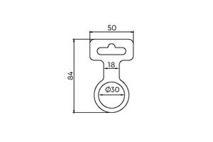 Accessoires de suspension de biais de flacon Ø 30 met Slot Euro lock - Euro lock-
