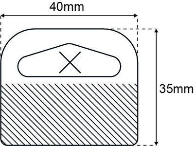 Delta 40x35mm standaard tape 1000 st