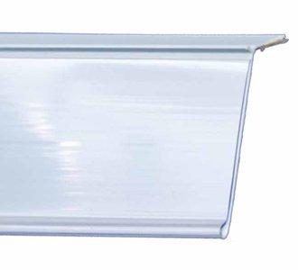 Zelfklevende prijskaarthouder - 25° - wit - 40x1330mm