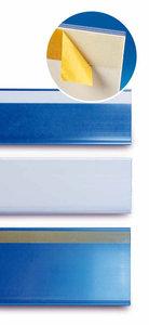 Zelfklevende prijskaarthouder - wit-73x1330mm