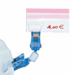 Double pince orientable  - ps - longueur 92mm - transparent
