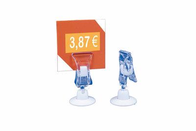 Adhesive tickethouder klem - 22x52mm - Ø voet: 22mm