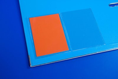 Zelfklevende pochette met korte zijde open  - PP - Formaat A4 - Transparant